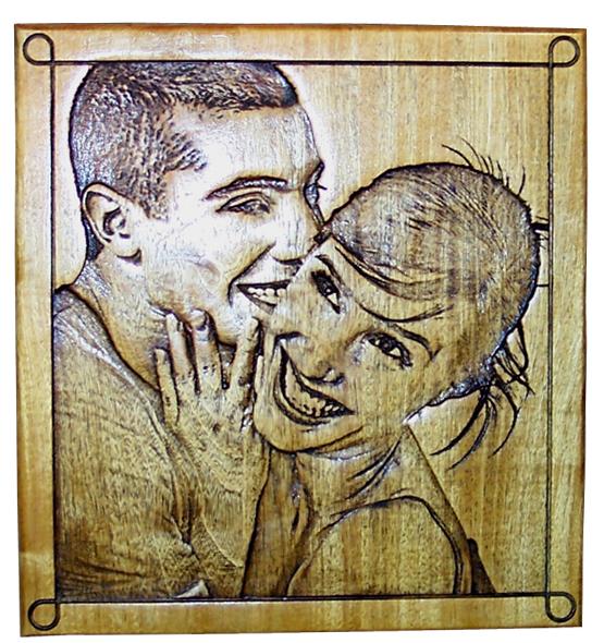 gravure et sculpture sur bois de portrait et photo bas relief. Black Bedroom Furniture Sets. Home Design Ideas